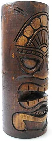 Maori aus Exotikholz Artisanal Totem Tiki H25 cm