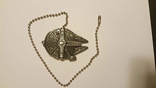 Star Wars Millennium Falcon Ceiling Fan Light Kit Beaded Pull Chain Antique Silver by Lambda