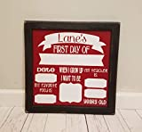 First Day of School Photo Board Prop. OR Last Day of School. Reusable. White Board. Chalk Board. Dry Erase.