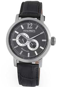 Haurex Italy Men's AJ330UGS Maestro Automatic Gray PVD Case 24 Hour Watch
