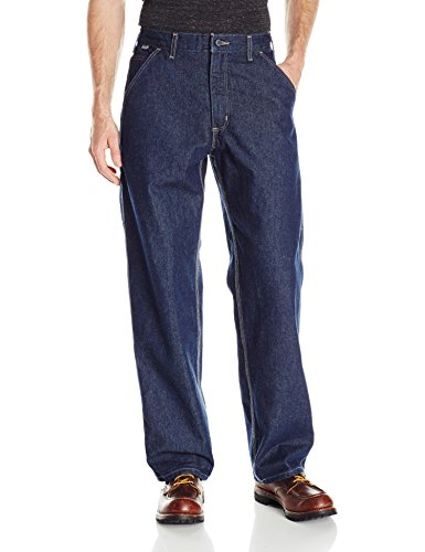 Carhartt Men's Flame Resistant Signature Denim Dungaree, Classic Dark, 30W x 30L