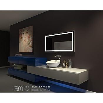mirror 48 x 24. ib mirror lighted bathroom mirror harmony 24 in x 48 6000 k