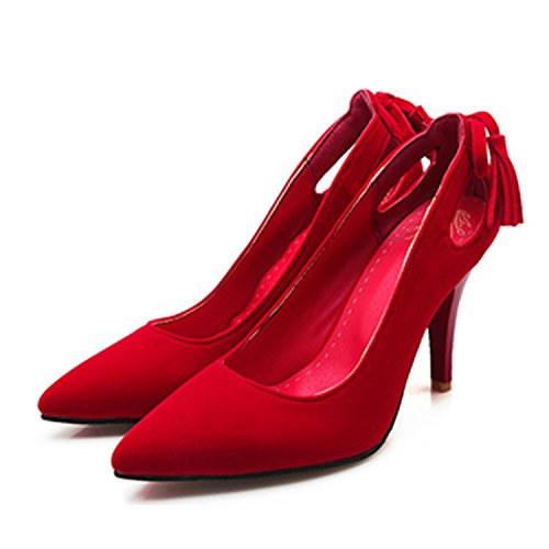 Stiletto Nonbrand Heel Shoes Court Women's Red Synthetic 5wrEPqnHw