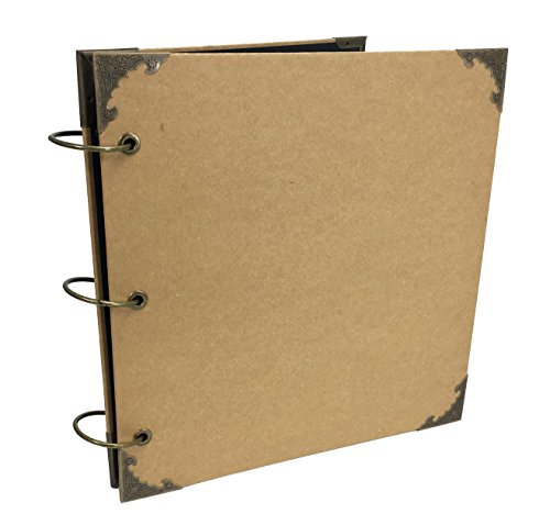 Polaroid Book Photo Guest - Premium Blank Kraft Expandable Hardcover Scrapbook with Alloy Corners, DIY Photo Album, Wedding Guest Book, Photo Booth (Brown Kraft Paper)