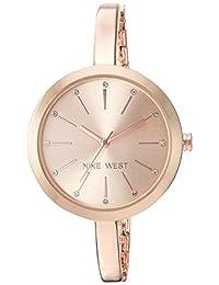 Nine West NW/2154RGRG Women's Dress Watch, Quartz Metal and Alloy, Rose Gold