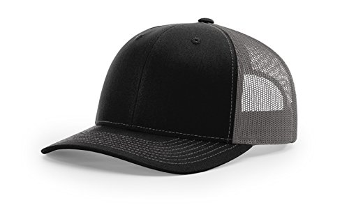 Richardson Structured Classic Trucker Snapback 112 Black/Charcoal -