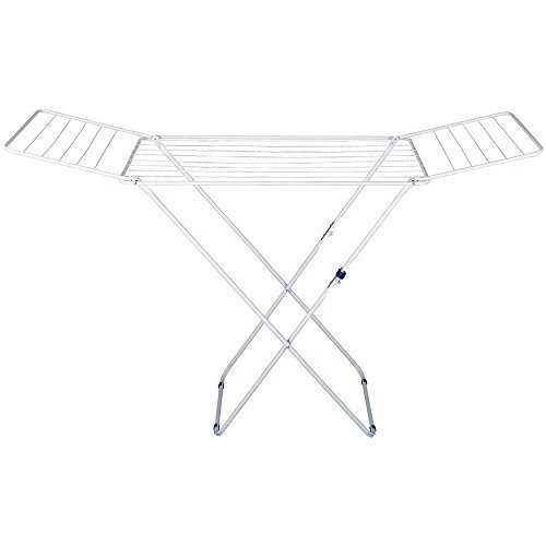 18M Silver Drying Laundry Rack - Stainless Steel by Gimi