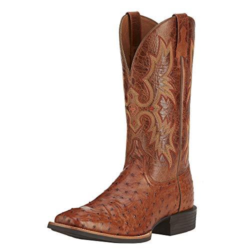 Ostrich Brandy (ARIAT Men's Quantum Classic Western Boot Brandy Full Quill Ostrich Size 11 M Us)