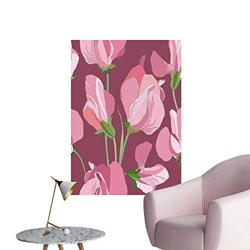 (SeptSonne Wall Decorative lila Pink Flowers Sweet peas Pictures Wall Art Painting,20