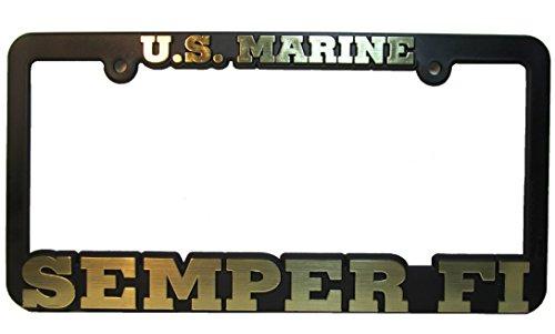 US Marine SEMPER FI Auto License Plate Frame USMC