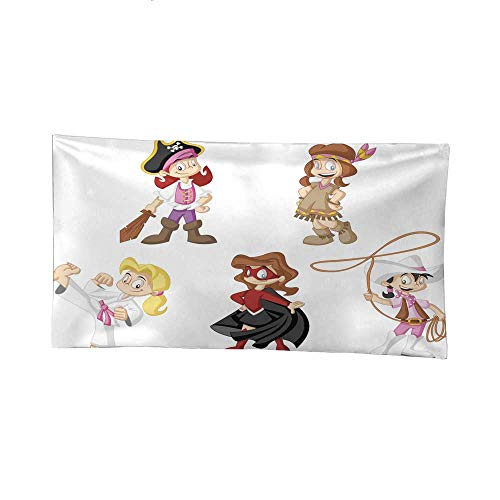 Nicely Hippy Tapestries Cartoon Girls Wearing Costumes BTS Tapestries 84W x 54L Inch