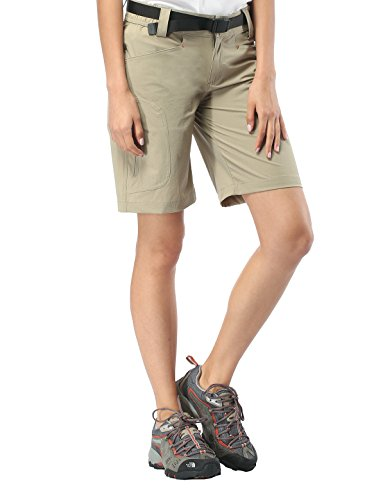 MIERSPORT Women's Quick Dry Hiking Shorts Outdoor Ripstop Cargo Shorts with 5 Pockets, Water Resistant & Lightweight