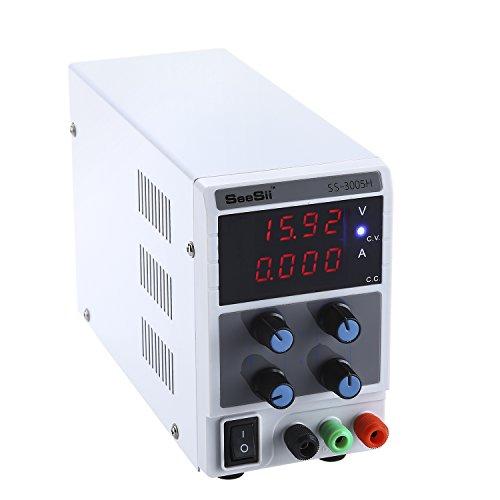 UPC 889251314186, DC Power Supply 30V 5A Adjustable High Precision 110V/220V Equipment Tool Lab Bench Test W/ Cable