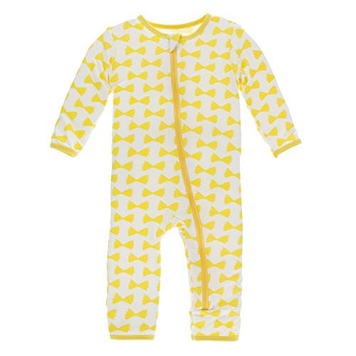 (Kickee Pants Little Boys Print Coverall with Zipper - Natural Farfalle, 18-24 Months)
