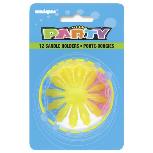 Birthday Candle Holders 12ct Plastic Amazonin Toys Games