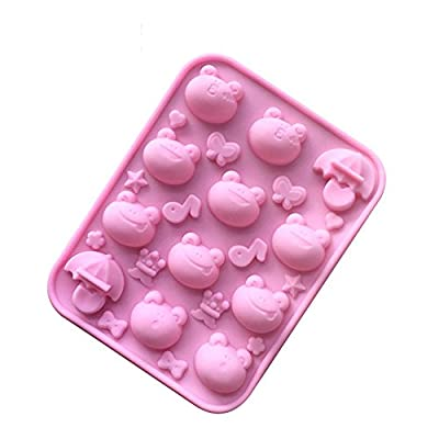 Always Your Chef Silicone Multi Emoji Frog Shaped Chocolate Candy Making Molds Gummy Jello Baking Molds, Random Colors