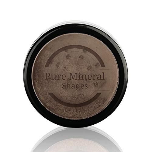 Pure Mineral Shades Root Concealer Touch Up Powder | All-Natural Crushed Minerals With Brush | Fast and Easy Total Gray Hair Cover up For Black | Brown | Auburn and Blonde Hair .32 ounce (Medium Brown)