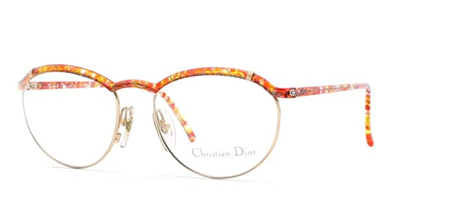 5144183b20d7 Image Unavailable. Image not available for. Color: Christian Dior 2599 44  RG Gold and Red and Orange Authentic Women Vintage Eyeglasses Frame