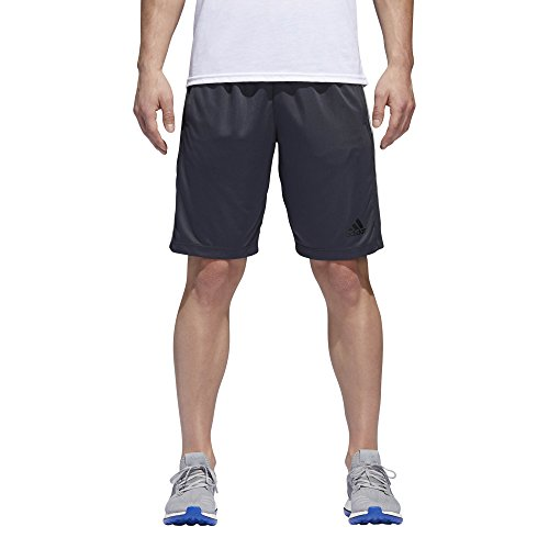 adidas Men's Designed-2-Move 3-Stripe Shorts, Dark Grey/Medium Grey, - Elastic Adidas Waist Shorts
