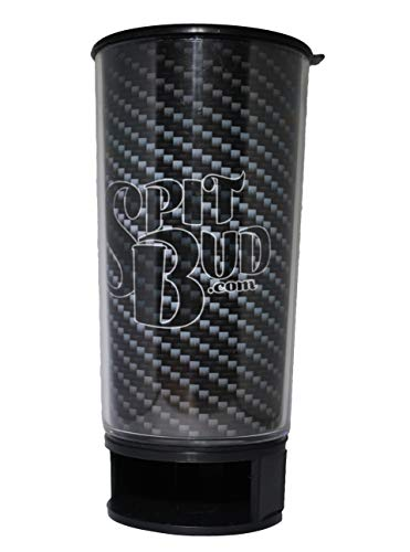 Carbon Fiber Spit Bud Portable Spittoon with Can Opener: The Ultimate Spill-Proof Spitter by Spitbud