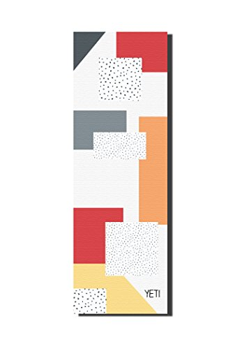 YETI YOGA Non-Slip Yoga Mat, ¼ inch Thick Eco-Friendly Washable Non-Toxic Yoga Mat for Men and Women, Colorful Graphic Design, 72 Inches Long