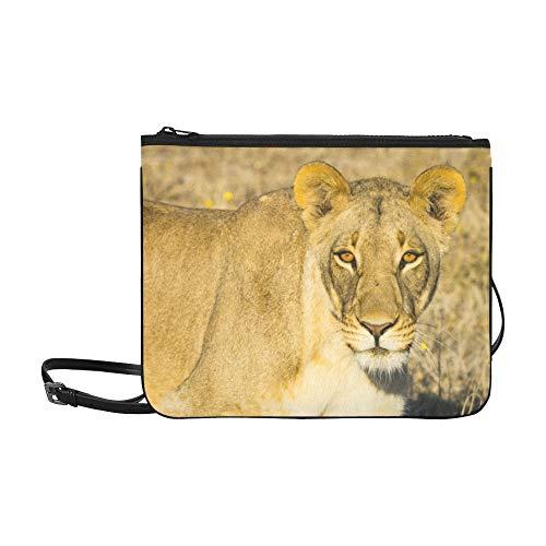 (Wildlife In Nxai Pan National Park Pattern Custom High-grade Nylon Slim Clutch Bag Cross-body Bag Shoulder Bag)