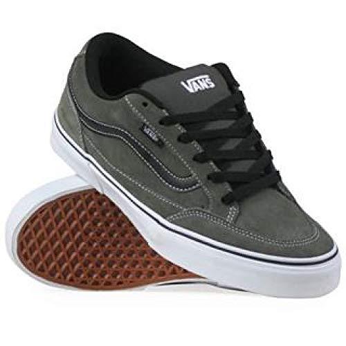 Vans Men's Bearcat Skate Shoes, Charcoal/White/Black, (8)