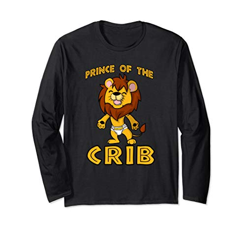 Baby Lion Cub PRINCE OF THE CRIB ABDL Long Sleeve T-Shirt -  NaughtyBoyz ABDL, Pup & Fetish Lifestyle T Shirts