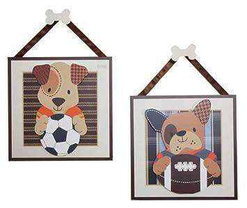 Amazon.com : Lambs & Ivy Bow Wow Wall Decor : Nursery Wall Decor ...