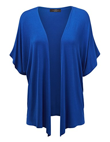 MBJ Womens Short Sleeve Dolman Cardigan 4XL Royal_Brite