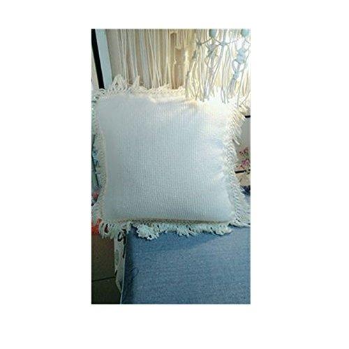 FQTANJU 5 Yards X 6cm Wide Cotton Tassel Fringe in Beige. (6cm)
