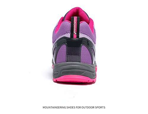 Pictures of Mountbeyond Womens Waterproof Hiking Shoes Outdoor Breathable W001A 4