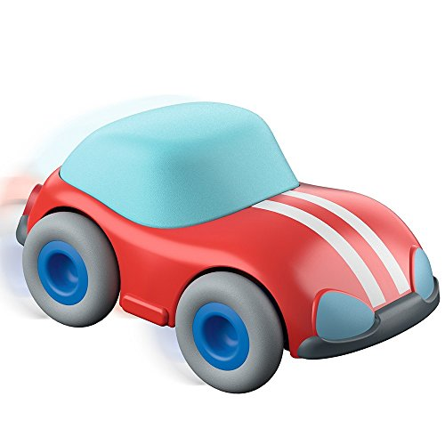 Speedster Motor Cars - HABA Kullerbu Red Speedster Car with Momentum Motor - Can be Enjoyed with or without the Kullerbu Track System - Ages 2+