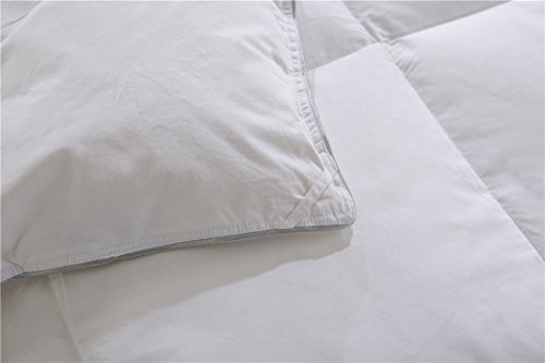 SHEONE All Seasons Lightweight White Goose Down Comforter-650 Fill Power-100% Cotton Shell Down Proof-Solid White Hypo-allergenic Duvet Insert With Tabs (King) by SHEONE (Image #5)