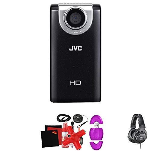JVC Picsio GC-FM2 HD Pocket Cam (Black) -Mega Accessory Bundle - (Tripods For Digital Cameras Jvc)