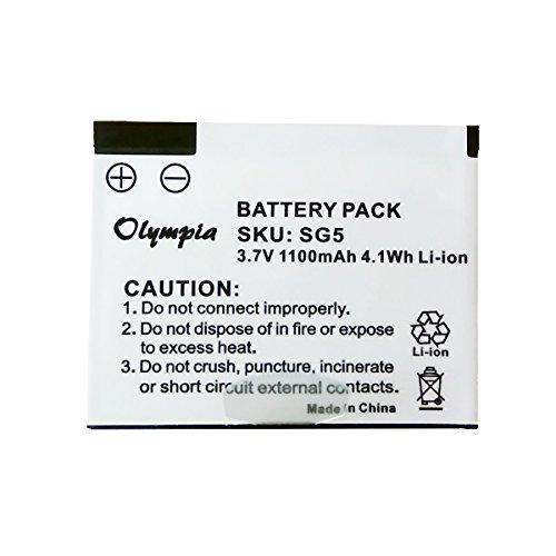 Skygolf SG5 Battery - Replacement Battery for SkyCaddie SG5 Rangefinder GPS, BAT-00022-1050 (1100mAh, 3.7V, Li-Ion)