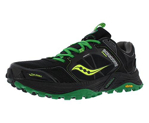 Saucony Xodus 4.0 Men's Running Shoes Size US 11, Regular Width, Color Black/Green/Yellow