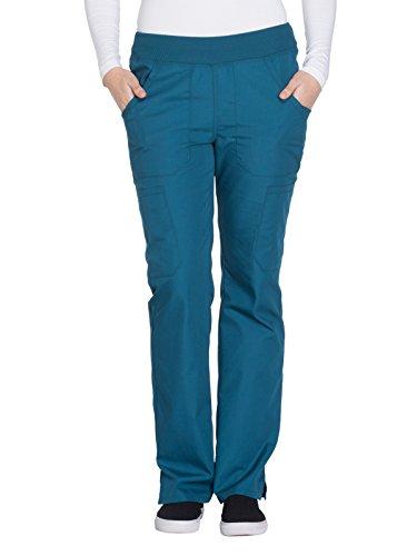 Cherokee Workwear Originals Women's Straight Leg Pull-On Scrub Pant Medium Caribbean Blue ()