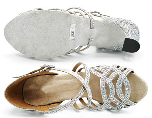 Heel Donna Argento 35 Da Minitoouk silver Minitoo l357 Sala 9cm xn8Fw47S