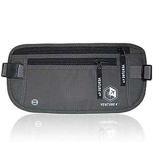 VENTURE 4TH Travel Money Belt - RFID Blocking (Gray - RFID Blocking)