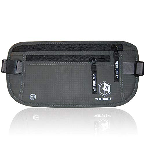 VENTURE 4TH Travel Money Belt - RFID Blocking (Gray)
