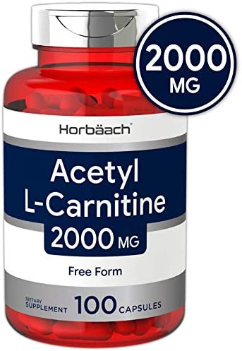 L Carnitine Capsules Potency Non GMO Horbaach product image