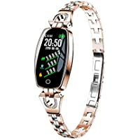 Smart Watch, Fitness Tracker With Heart Rate & Blood Pressure & Sleep Monitor For IOS & Android, Waterproof Ladies Jewelry Health Tracker With Color Screen,Calorie & Step Counter For Women Kids Girls