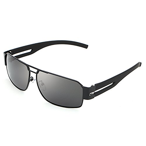 HDCRAFTER Men's Rectangular Outdoor Driving Polarized - Cheap For Big Sunglasses Heads