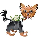 Painted Yorkie Dog Planter
