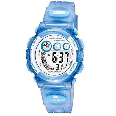 AZLAND Boys Girls Watches,Sports Watch,Digital Watch Features Night-light,Swim,Frozen,Waterproof Kids Watch from AZLAND