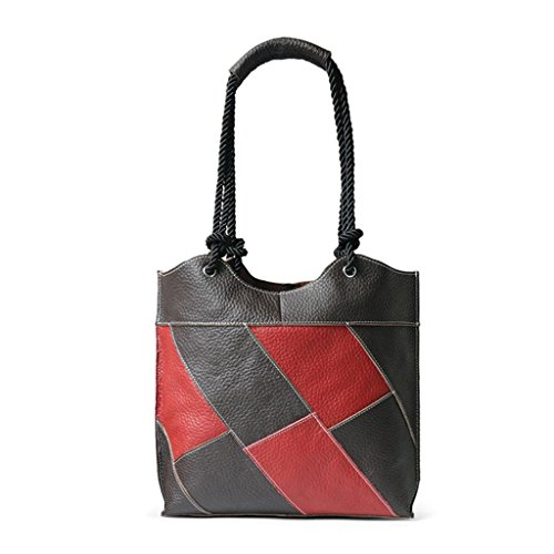 Cubo Bolso red Compras Ocio Black Cuero Trabajo de BAO Mensajero Diagonal Bolso Simple Bolso Plaid Bolso Señoras coffee de Viaje Hombro de de plaid oblique gE4ZIq