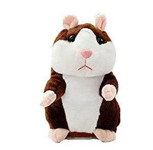 Battery Operated Talking Hamster Mouse - Sound Record Hamster Educational Toy for Children