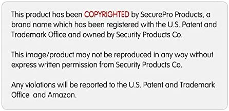 Screen Printed SecurePro Products Extra Large 10 x 15 Rectangular United States American Flag Decal Sticker;Super Premium Quality Heavy-Duty 3M USA Vinyl Die-Cut Adhesive on Back