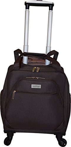 New York Chocolate Travel 18 Inch Carry-On Wheeled Luggage (Brown)